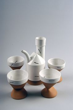 Paul Eshelman, teapot set, c. 1985