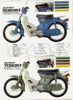 Honda C 50 und 70, Japan.