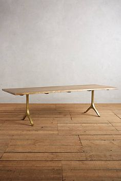 this is a wonderful table, but I don't think the dimensions are right for the room, right? THESE are the type of wishbone legs I'd like on a custom live edge table.