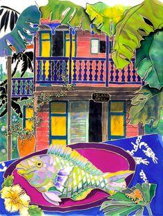 Island Grill Artwork: Coastal Home Decor, Nautical Decor, Tropical Island Decor & Beach Furnishings