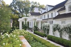 The color garden. Going with a specific color scheme is probably one of the easiest ways to make a garden uniquely your own. They say white is the absence of color, but in this space, it is the defining element. It's also a classic look.