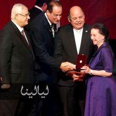 تكريم رموز الفن فى حفل عيد الفن تحت رعاية رئيس الجمهورية عدلي منصور يوم 13مارس 2014.
