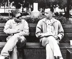 Robert Zemeckis, Tom Hanks on-set of Forrest Gump (1994)
