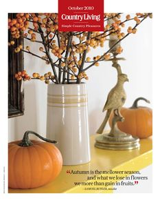 """""""Autumn is the mellower season, and what we lose in flowers we more than gain in fruits."""" - Samuel Butler, novelist Spooky Decor, Fall Mantel Decorations, Thanksgiving Decorations, Seasonal Decor, Halloween Decorations, Mantel Ideas, Decor Ideas, Thanksgiving Ideas, Diy Ideas"""