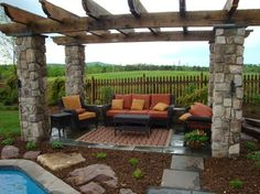Landscape for a Custom Home on a Winery in Virginia - traditional - Patio - Dc Metro - Revolutionary Gardens