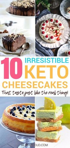 Want some easy to make keto desserts that can help you lose weight? Check out these keto cheesecake recipes that will melt in your mouth AND keep you in ketosis! The list includes my favorite keto cheesecakes, including no bake keto cheesecake recipes! Keto Desserts, Keto Friendly Desserts, Keto Dessert Easy, Keto Snacks, Dessert Recipes, Recipes Dinner, Dessert Ideas, Keto No Bake Cheesecake, Cheesecake Recipes