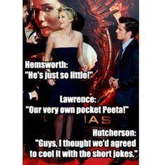 The Hunger Games-Jennifer Lawrence, Liam Hemsworth, Josh Hutcherson Hunger Games Memes, Hunger Games Cast, Hunger Games Fandom, Hunger Games Catching Fire, Hunger Games Trilogy, Hunger Games Problems, Jennifer Lawrence Funny, Jenifer Lawrence, Jennifer Lawrence Hunger Games