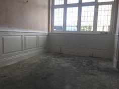 During installation of dining room wall panelling