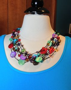 Spectrum necklace can be worn with so many shirts! Very versatile piece. Premier Designs Jewelry.