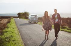 vw camper engagement uk, image by Red on Blonde Photography