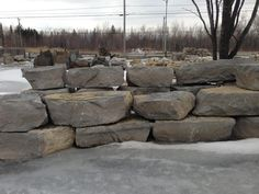 Limestone : Pierres naturelles - Muret - Rocaille - Jardin Eden Parfait, Firewood, Mini, Gardens, Natural Stones, Rock Shower, Woodburning