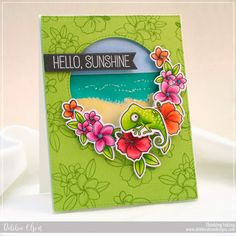 Polynesian Paradise Stamp Set and Die-namics, Inside & Out Stitched Circle STAX Die-namics, Stitched Sentiment Strips Die-namics - Debbie Olson  #mftstamps