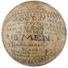 Christy Mathewson game pitched baseball