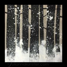 Exploring Art with students with special needs. Little fun winter assignment. Can work for elementary school too. Easy step-by-step tutorial.