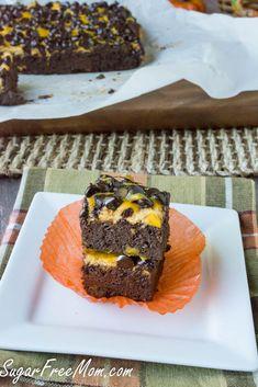 Sugar free pumpkin brownies