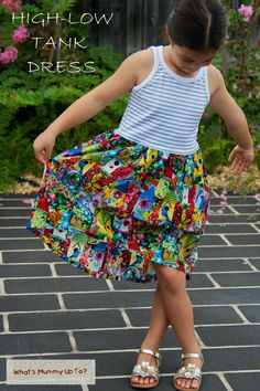 Learn how to make a dress for girls using a free tank top pattern and a basic gathered skirt with the Tank Top Girls' Dress Pattern.
