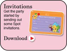 Where's Spot Birthday Party Invitations