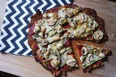 Healthy pizza, receptje te vinden op It's Pure Food.