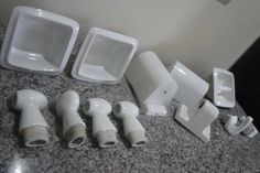 Louça Banheiro Branco, Conjunto 11 Pç Sem Uso, Anos 50 60 - R$ 850,00 em Mercado Livre