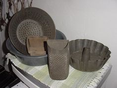 Antique Lot of Primitive Kitchen Stuff Instant by anteeker on Etsy, $45.00
