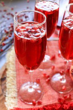 Sparkling Pomegranate Cocktails Recipe - from RecipeGirl.com