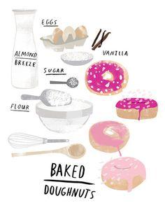 Baked donuts illustration