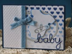 Ink Stains: Welcome Baby Boy Blue Card