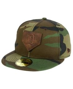 New Era Detroit Tigers The Logo of Leather 59FIFTY Cap - Green 7 1/8