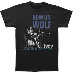 Vintage Distressed 1969 Ann Arbor Blues Festival Logo With Howlin' Wolf Sitting Down Performing Photo Wolf Sitting, Black Elvis, Festival Logo, Center Stage, Vintage Men, Custom Shirts, Vintage Outfits, Ann Arbor, Mens Tops