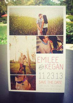 Wedding Save the Date Postcard // Multiple by projecttwenty9, $18.00