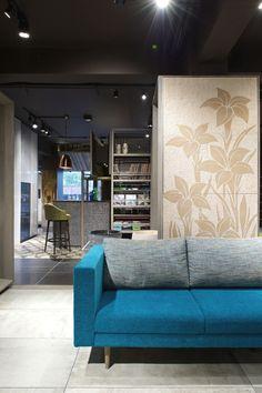 Cyan sofa modern and contemporary