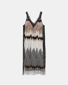 Image 6 of LACE-TRIMMED TIE-DYE DRESS from Zara