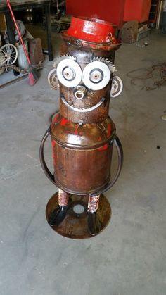 Metal Pipe, Metal Art, Diy Robot, Recycle Art, Junk Art, Welding Art, Steampunk Diy, Sculpture, Yard Art