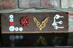valentine love sign junk salvage