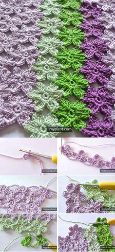 Learn A New Crochet Pattern: Crochet Flower Stitch