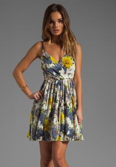 Jack by BB DAKOTA Allena Floral Dress in Navy Blue at Revolve Clothing - Free Shipping!