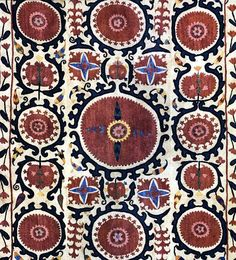 Some motifs are seen more often than others and are clues to the ways in which tribes were exposed to other cultures. Lotus, hyacinth, carnations, tulips and the botah pattern (similar to the paisley) are seen very often, sitting within circles, or being sprayed from vessellike shapes. A popular image is one called ' Palak', a heavenly orb and often represented with big red flower: