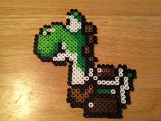 Green Yoshi Bead Sprite Super Mario World Nintendo by HouseOfHielo, $6.00