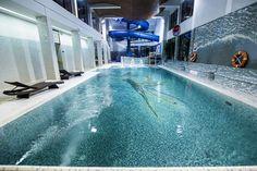 Mozaika na dnie basenu nadaje wodzie piękny kolor tropikalnego morza. http://www.hotelklimek.pl/spa-wellness/aquapark | Mosaic on the bottom of the pool gives the water a beautiful color of a tropical sea. http://www.hotelklimek.pl/en/spa-wellness/aquapark #aquapark #pool #waterpark #hotel #parkwodny #basen #tropical #water #sea #colour