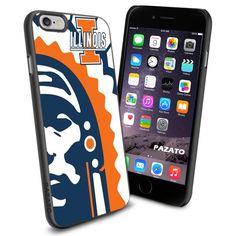 iPhone 6 Print Case Cover Illinois Fighting Illini Logo Protector #PAZATO