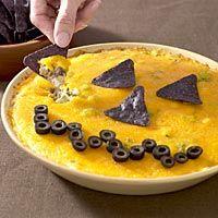 Jack-O-lantern Taco Dip! Mexican for Halloween !