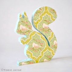 Sparkly print Squirrel tutorial by Torie Jayne