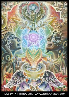 Eco Art Print - The One Eye Love by JAH Ishka Lha / Sacred Geometry <3