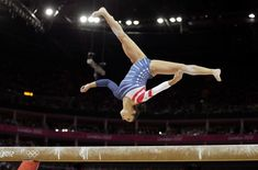 Team USA's Aly Raisman competes during the women's gymnastics balance beam event finals at the London Olympics.