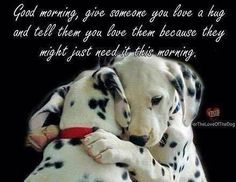 Good Morning quotes good morning love .((♥)) Animals And Pets, Baby Animals, Funny Animals, Cute Animals, Cute Dog Pictures, Animal Pictures, Animals Tumblr, Morning Hugs, Morning Quotes