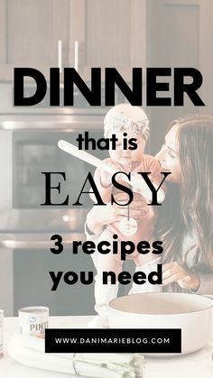 In a hurry for dinner? Don't worry! Here are 3 simple quick & easy dinner recipes that you can make FAST! #fastdinner #quickdinner #simpledinner #dinner #dinnerrecipe