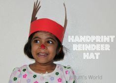 Handprint Reindeer Hat Crown - simple to make yet loads of fun!!