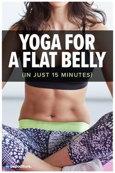 VIDEO: Get a Flat Belly with Yoga! Skip the crunches and hop on your mat for this effective yoga workout designed to target the abs in just 15 minutes. Yoga for a Flat Belly [VIDEO] Yoga Bewegungen, Cardio Yoga, Yoga Pilates, Hot Yoga, Yoga Flow, Pilates Reformer, Vinyasa Yoga, Yoga Abs, Yoga Fitness