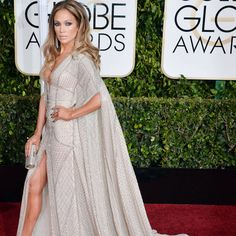 Jennifer Lopez channels Barbarella at this year's Golden Globes.%0AGetty Images  - HarpersBAZAAR.com