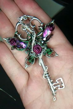 Custom Order Fairy Key Fairy Jewelry Wire by LepidusPlasmatio. //  ♡ REALLY BEAUTIFUL! LOVE THE SPARKLE & THE COLORS!!!  ♥A